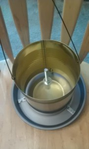 homemade chicken feeder