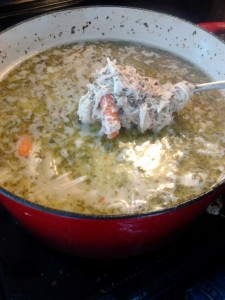 """Get Better"" Soup cooking in a pot"