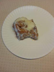 bacon cinnamon rolls on plate