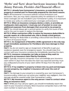 myths and facts from patronis cfo