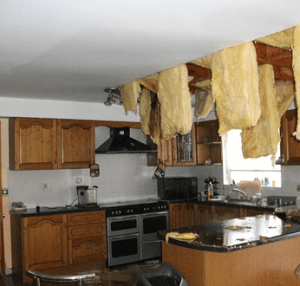 Burst pipes insurance claim leading to extensive damage to property interiors, ceilings, flooring - Claims Assist detail all of your loss as a result of the initial burst pipe incident