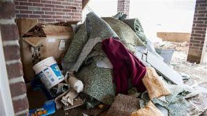 internal house flood damaged fixtures
