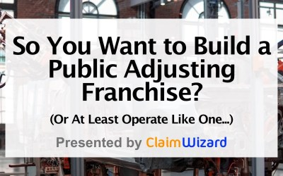 So You Want to Start a Franchise? Or at least operate like one…