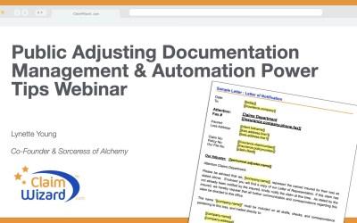Public Adjusting Documentation Management & Automation Power Tips