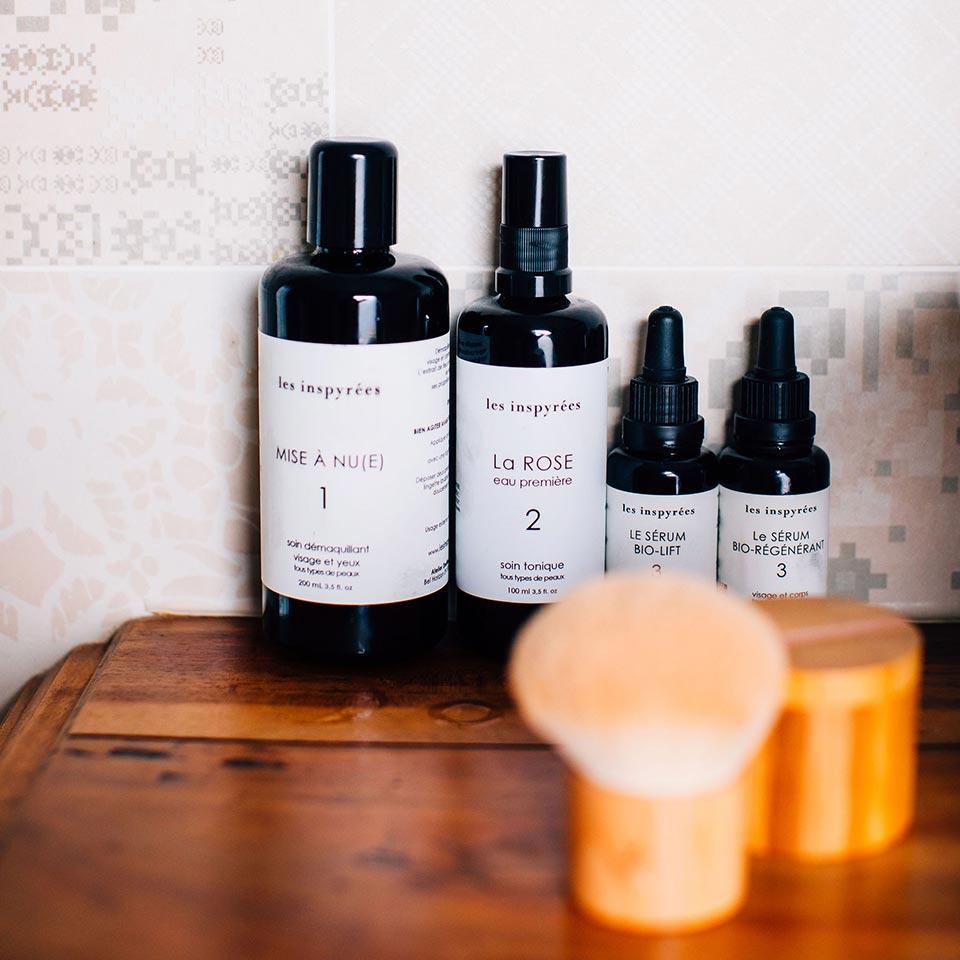 Le soin de la peau par la marque Les Inspyrées avec des routines adaptées à chaque type de peau