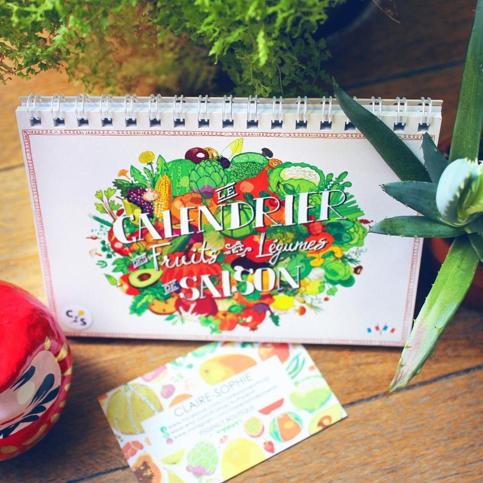 Calendrier perpétuel de fruits et légumes de saison