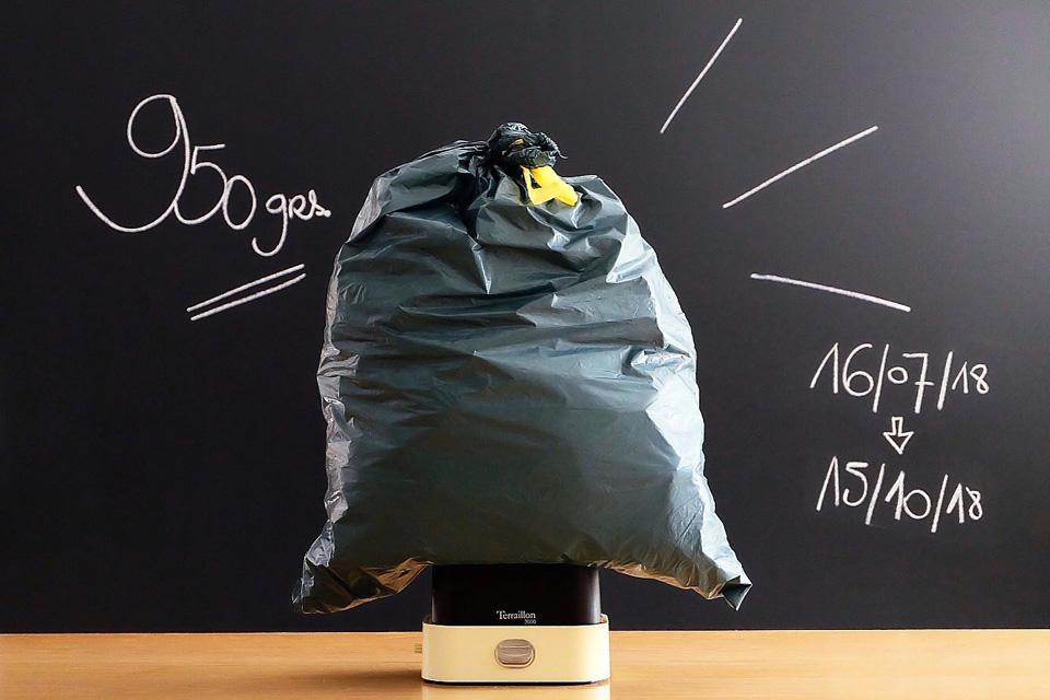 950 grammes de déchets ménagers en 3 mois