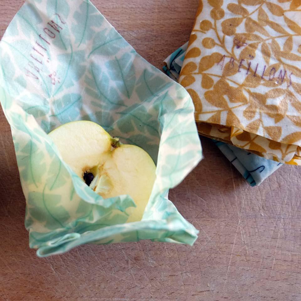 Les bees-wraps pour emballer les restes