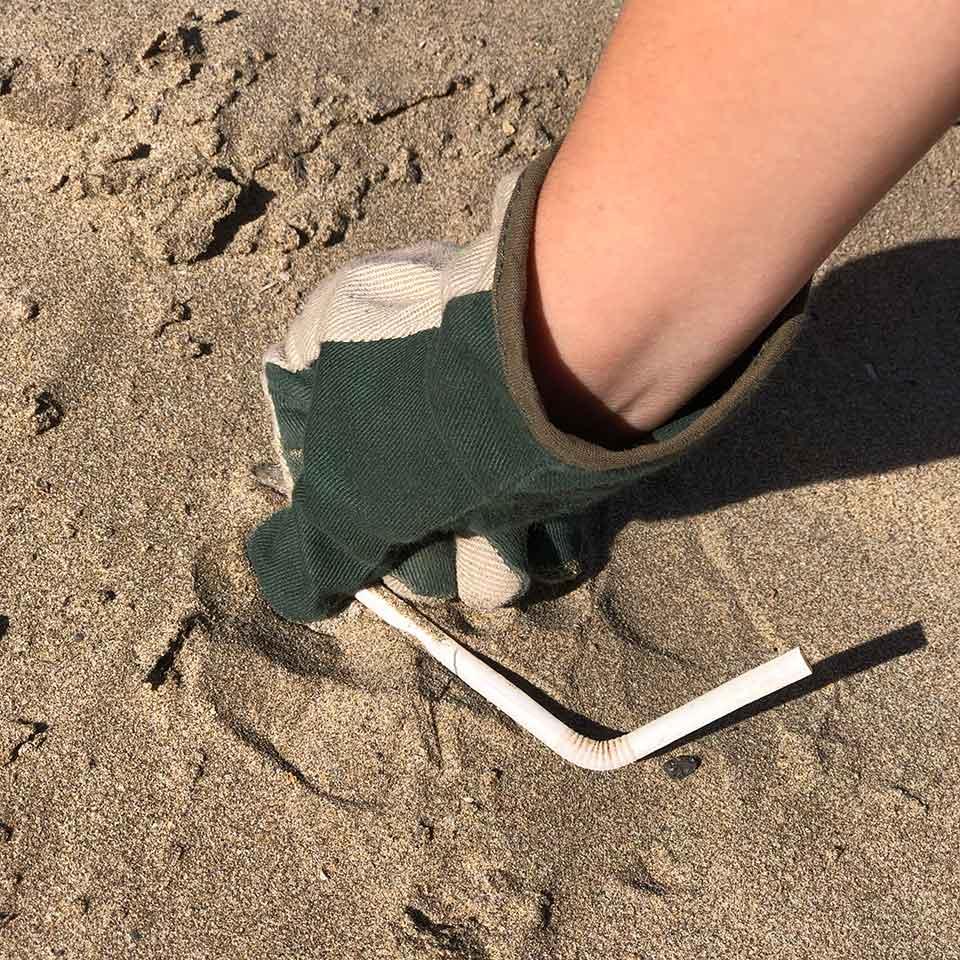 Ramasser les déchets en vacances