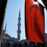 The flag and the minaret