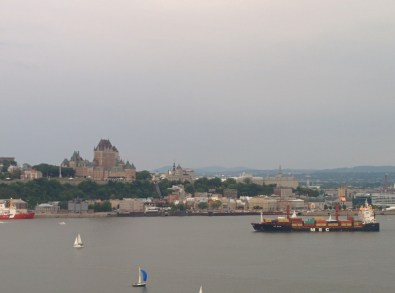 That big building is the Château Frontenac.