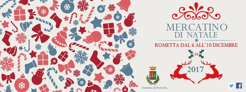 locandina mercatino natale sicilia rometta