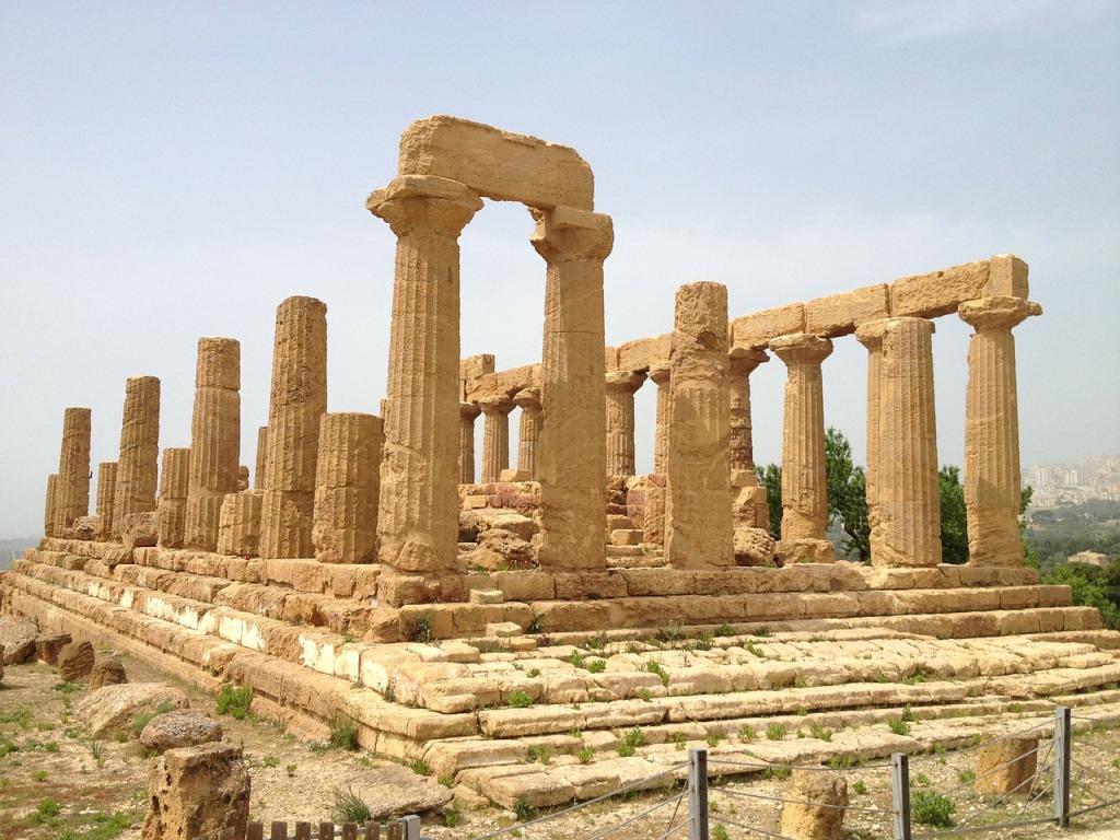 tempio di Hera alla valle dei templi per un tour guidato con i bambini