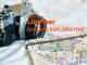 macchina fotografica e mappa