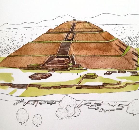 illustrazione della piramide di Giza in Egitto