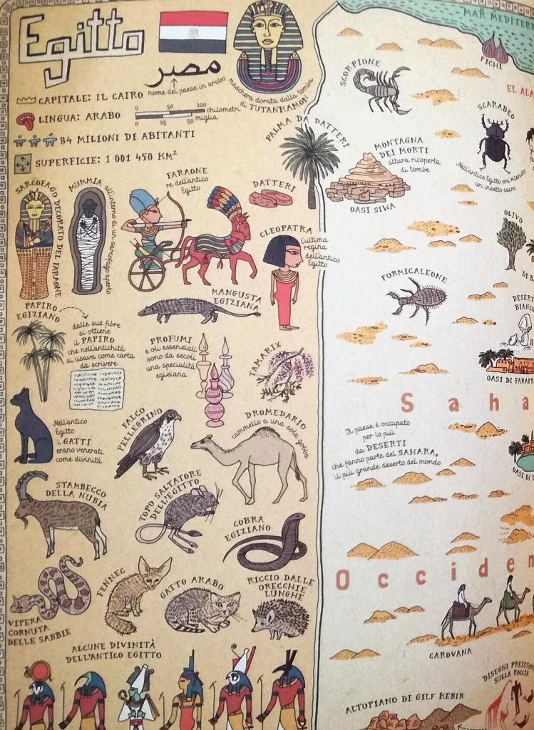 illustrazione di Mappe, un libro di viaggio per bambini