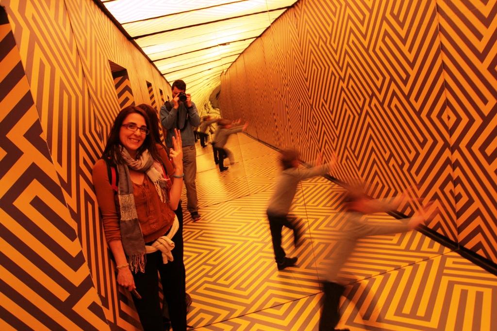 stanza antigravity al museo delle Illusioni Lubiana