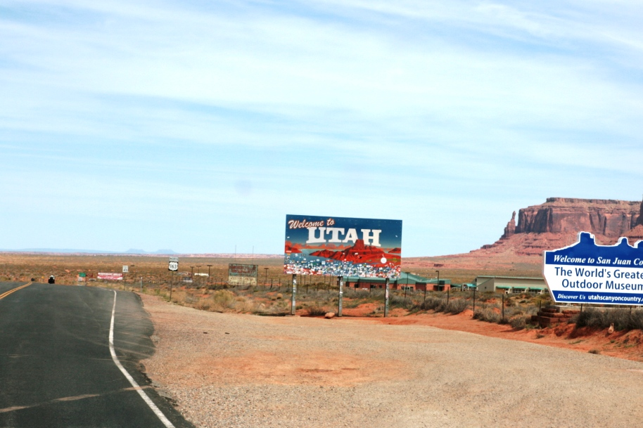 cartello stradale Utah