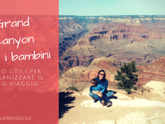 mamma e bambino al grand canyon