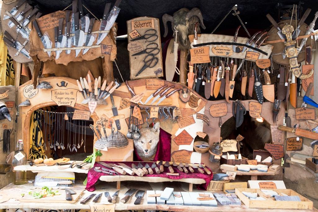 bancarella ai mercatini di natale in germania di Esslingen