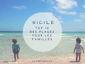 des enfants à la plage en Sicile