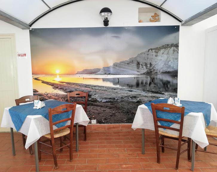 sala ristorante della casa vacanze l'ancora di agrigento
