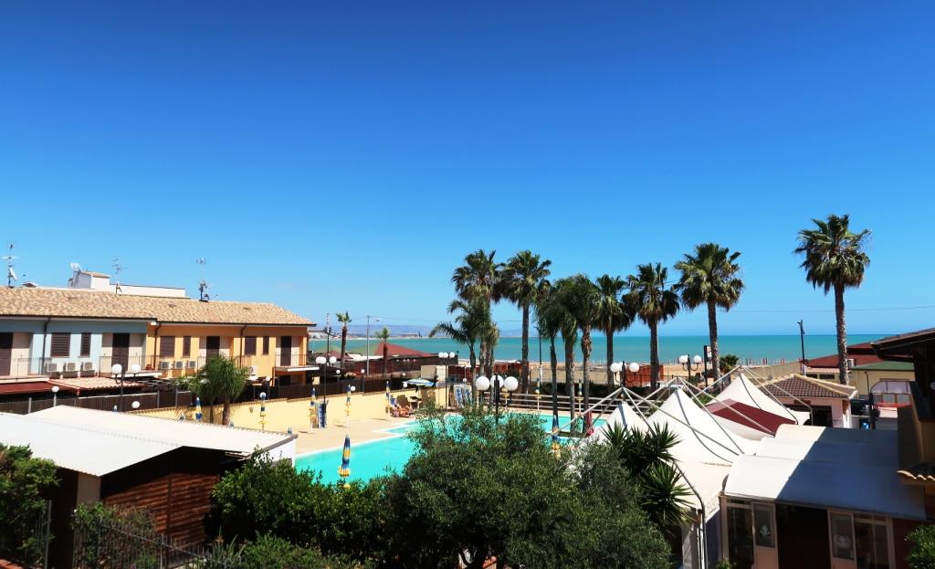 vista dalla camera di una casa vacanze mare ad Agrigento