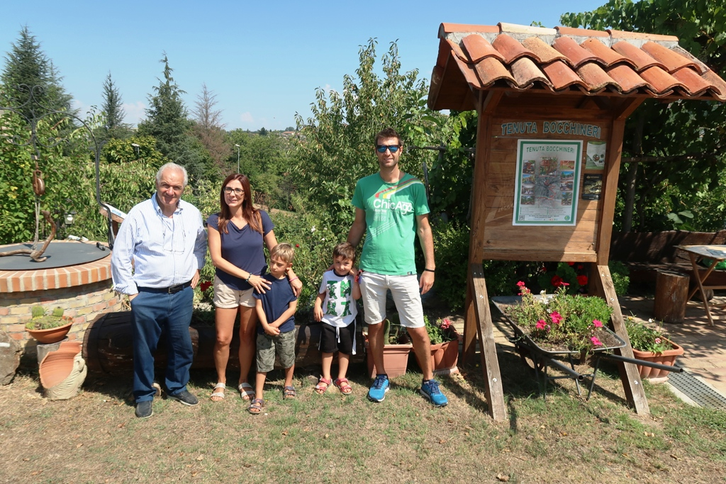 una famiglia in vacanza in Calabria