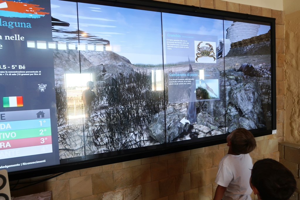 pannello multimediale alle saline di Marsala