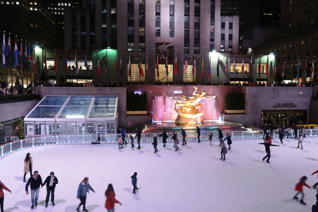 pista di pattinaggio rockfeller center