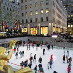 pista di pattinaggio del rockfeller center
