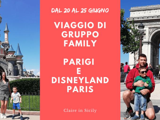 una famiglia in viaggio di gruppo a Parigi