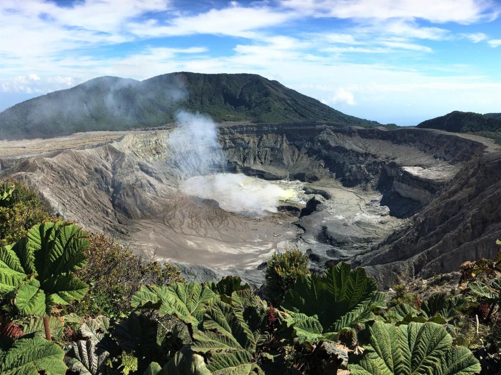 cratere del vulcano Poas in Costa Rica