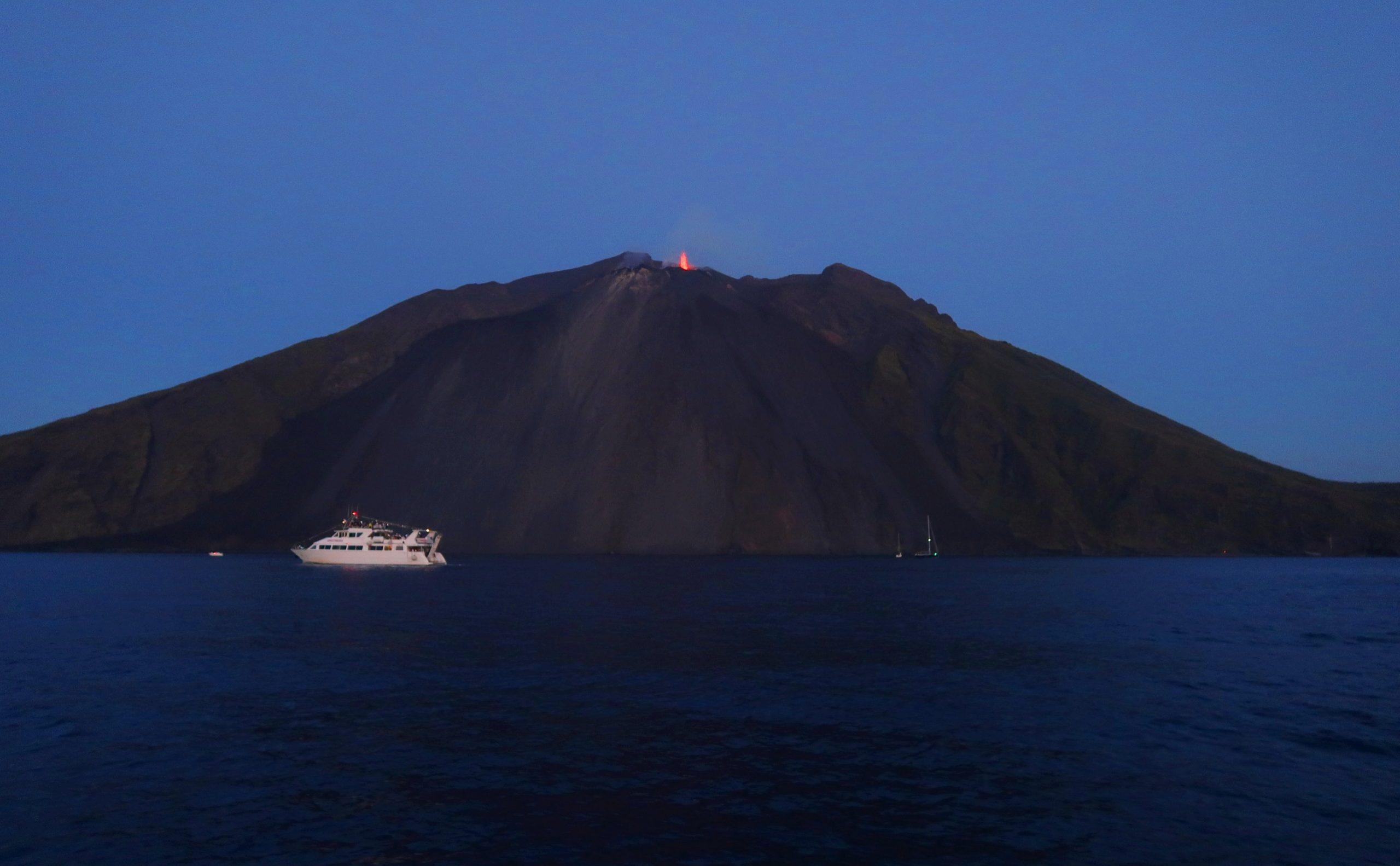 sciara del fuoco del vulcano Stromboli