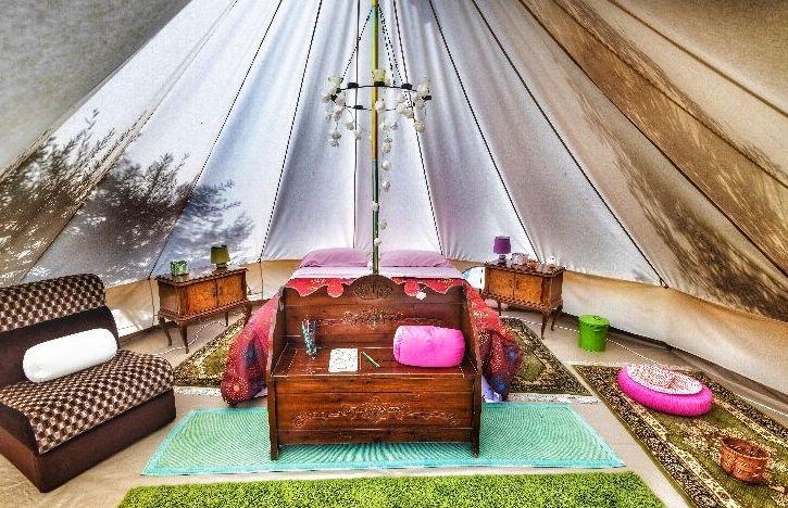 tenda glampling ad avola in Sicilia