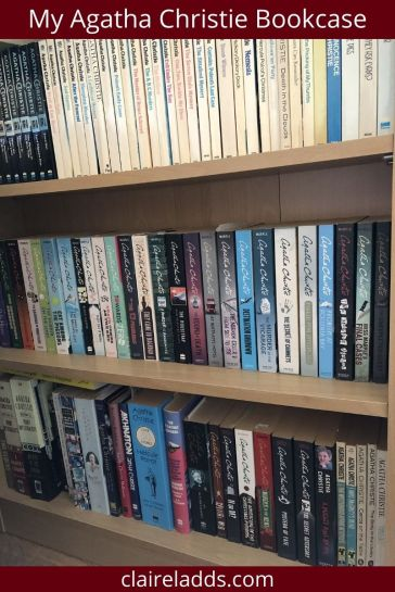 Author Claire Ladds' Agatha Christie bookcase