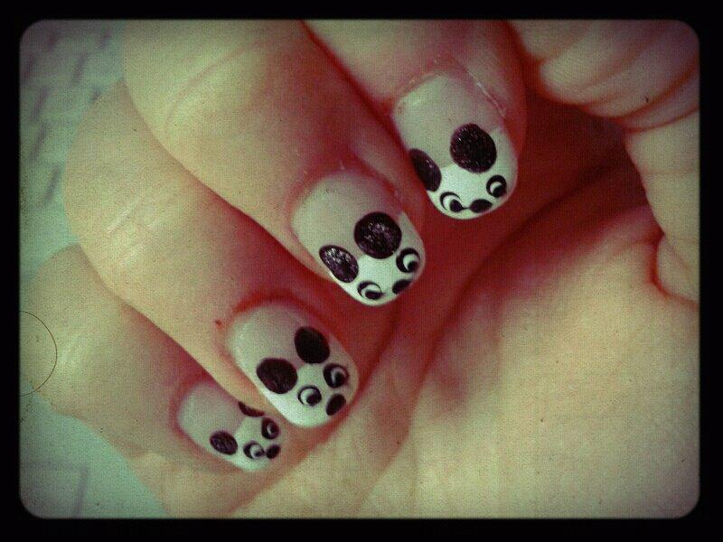 Panda Nails!  (2/2)