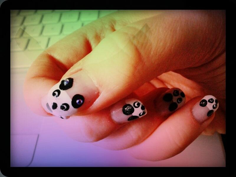 Panda Nails!  (1/2)