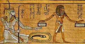 A gauche, le Dieu du Nil