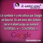 Le saviez-vous ? Pi et Google
