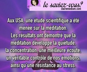 Le saviez-vous ? Méditation et bienfaits