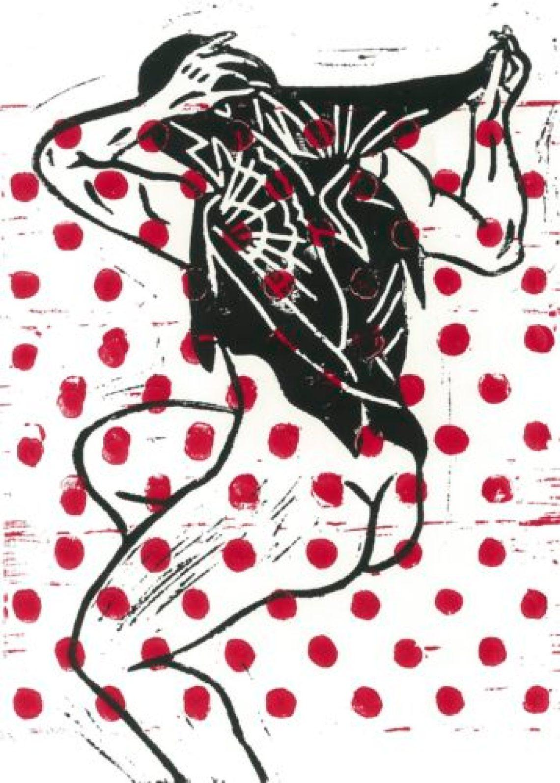Ecorché #02 black & red