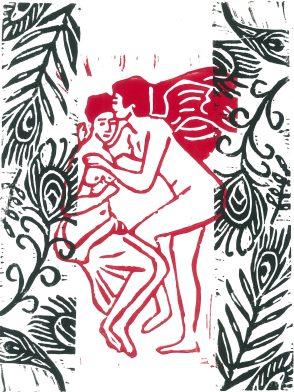 Amour et Psyché # red & black