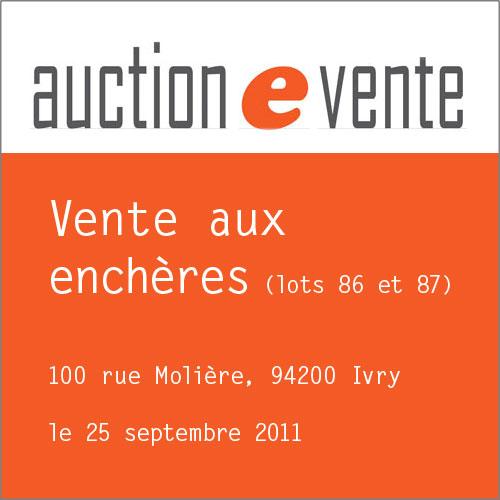 Vente Auction septembre 2011