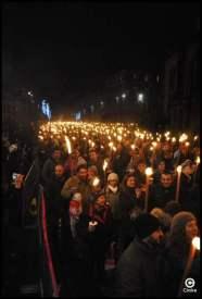 The torchelight procession Edimbourg Ecosse