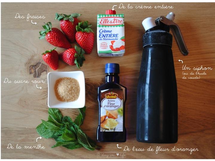 Recette de verrines à la fraise
