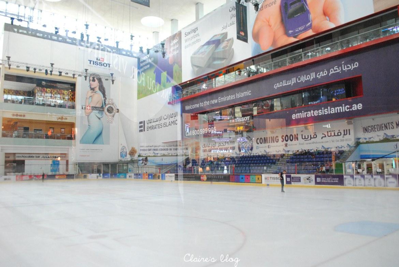 patinoire centre commercial Dubaï