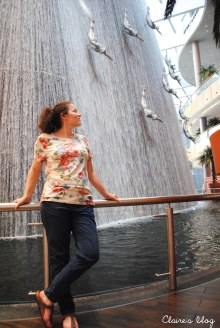 Dubaï Waterfall fontaines centre commercial