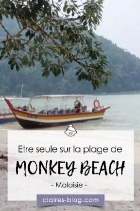 Etre seule sur la plage de Monkey Beach - Penang - Malaisie #penang #malaisie #voyage #asie #plagedeserte #monkeybeach