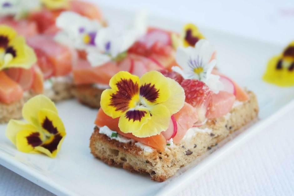 recette apéro dinatoire facile healthy joli fleurs comestibles (6)